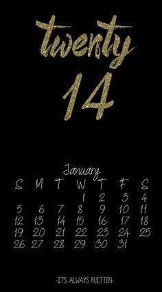 !¡ January 2014 Desktop Calendar from It's Always Ruetten