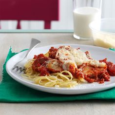 Quick Chicken Parmesan Recipe -My mother inspired me to develop my first pasta sauce. It's tangy, simple and really satisfying. The longer it simmers, the better it gets, so keep that in mind if you have time to spare. —Danielle Grochowski, Milwaukee, Wisconsin