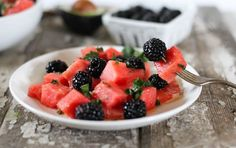 This recipe fromNutrition Strippedcombines the flavor of winter citrus with more summery melon and berries. The honey-mint drizzle complements the citrusy grapefruit nicely. This recipe is low in calories, yet vibrant enough to be a side or even a savory-sweet dessert.