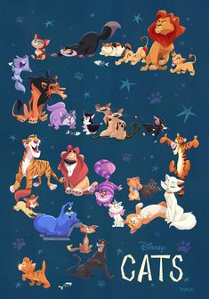 The big reveal of my full Disney Cats piece for the WonderGround Gallery in Downtown Disney. So much fun to work on! Can you name them all?
