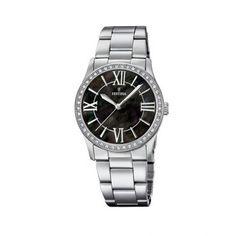 Γυναικείο ρολόι FESTINA F20232/2 απλό με μαύρο καντράν, ατσάλινους δείκτες και ατσάλινο μπρασελέ | Ρολόγια Festina ΤΣΑΛΔΑΡΗΣ στο Χαλάνδρι #Festina #μαυρο #μπρασελε #ρολοι Omega Watch, Rolex Watches, Accessories, Ornament