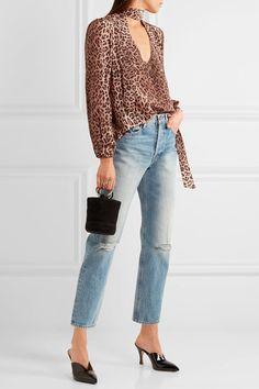 1775cab92e6 New Rixo London Women s Blouse Shirt Moss Size S Silk Leopard Print Pussy  Bow. Stacey Sharratt · casual   dressy
