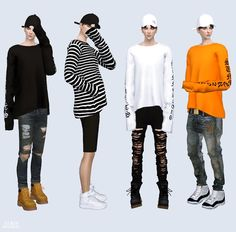 Long Sleeves Top_ long sleeve top male costume _ - SIMS4 marigold