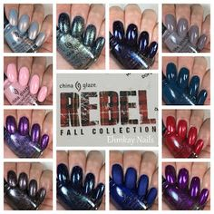 ehmkay nails: China Glaze Rebel Collection for Fall 2016: Swatches and Review