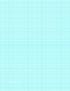 this letter sized graph paper has ten aqua blue lines every inch