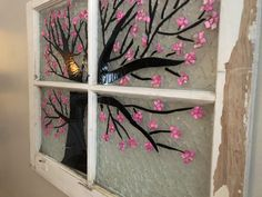 I made this cherry blossom tree with glass and shells.  It was then donated to raise money for CDG research.