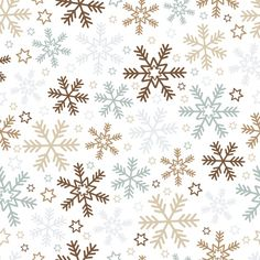 Fundo do Natal com flocos de neve e estrelas Vetor grátis