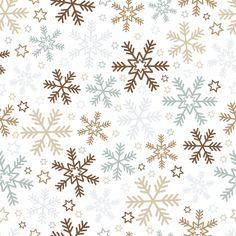 fond de Noël avec des flocons de neige et étoiles Vecteur gratuit