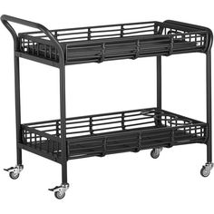 Kruger Black Bar Cart - For patio $349  38x21x32H