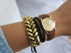 DIY Braided Hex Nut Bracelet.... http://thisolddress.blogspot.com/2011/08/diy-braided-hex-nut-bracelet.html