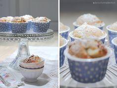 "Apfel-Marzipan-Muffins mit Zimt – oder ""Süße Sonntags Sünde"" – deckschonmaldentisch Marzipan Muffins, Apfel Snacks, Sweet Bakery, Cereal, Breakfast, Monat, Food, Pastries, Cupcake"
