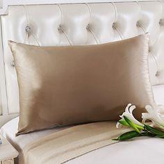 Amazon.com: OOSILK Mulberry Silk Pillowcase with Hidden Zipper 19mm ,Cotton Underside, Queen (20in 30in) White: Bedding & Bath