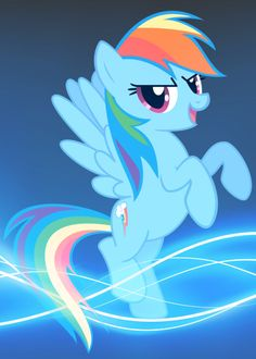 Rainbow Dash Blue Burst Wallpaper