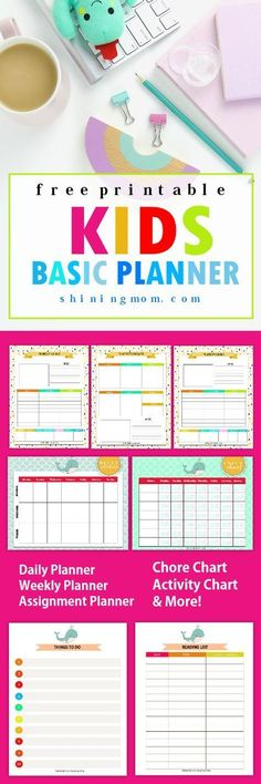 Delight the children with this FREE Kids Planner printable! Yup, organizing can also be fun for the grade school pupils!