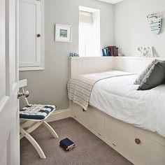 Decoracion de dormitorio, cuarto, habitacion pequeño y moderno