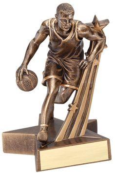 Super Star Resin Male Basketball Trophy