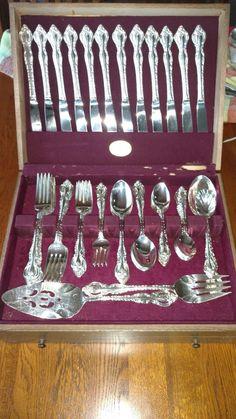 GLOSSY Dinner Fork CUBE Oneida LTD Stainless Flatware ACT I