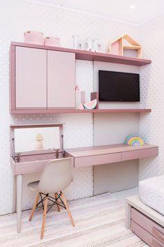 Diy Home Decor Bedroom, Small Room Bedroom, Girls Bedroom, Home Room Design, House Design, Study Table Designs, Aesthetic Bedroom, New Room, Girl Room