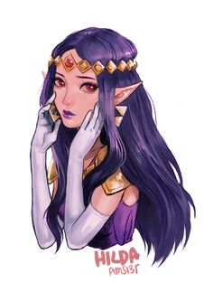 Hilda -The Legend of Zelda: A Link Between Worlds fan art | #ALBW