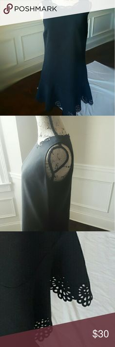 Ann Taylor LOFT Drop Waist Dress Good used condition. Dress fits more like a medium. Its very cute. Nice heavy quality fabric. Love the detail and flattering on most figuresomething with the  drop waist. LOFT Dresses Midi
