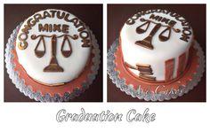 Lawyer Graduation Cake