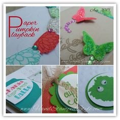 Paper Pumpkin Playback Online Class Series Aug. 2015 sneak peek from Hand Stamped Style- Launches August 2015