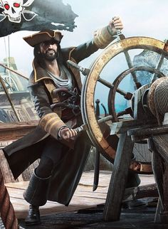 m Fighter PIrate midlvl ship He somehow reminds me of Hugh Jackman Pirate Art, Pirate Life, Pirate Ships, The Pirates, Pirates Of The Caribbean, Sea Of Thieves, Black Sails, Fantasy Characters, Captain Jack Sparrow