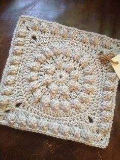 """Ravelry: Melinda Miller's 12"""" Crown Jewels crochet Square. Fantastic Free pattern. Well written, as hers always are. (This is my 9"""" version for a swap, with notes on changes.)"""