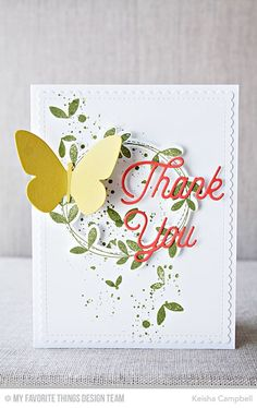 Spring Wreath, Spring Wreath Die-namics, Distressed Patterns, Twice the Thanks Die-namics, Flutter of Butterflies - Solid Die-namics, Blueprints 27 Die-namics - Keisha Campbell  #mftstamps