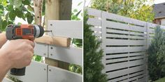 Home Depot privacy fence tutorial -- like the grey-stained look
