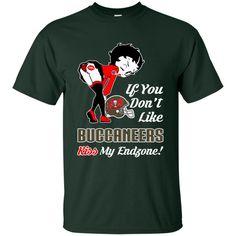 Betty Boop Tampa Bay Buccaneers T shirts If You Don't Like Kiss My Endzone Hoodies Sweatshirts