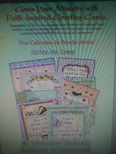Artist Barbara Ann Kenney's Celebrations Christian themed greeting card collection available in Christian Bookstores now.