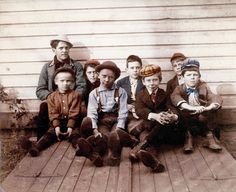The Neighborhood Boys 1909 New YOrk fine Art Photograph.