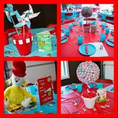 dr suess birthday center pieces | Mama and Mister: Logan's Dr. Seuss First Birthday Party