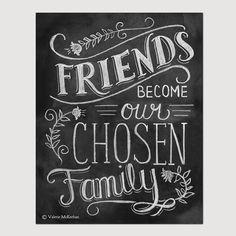 Friendship Print - Friendship Gift - Friend Quote - 8 x 10 Print - Hand Lettered Print - Gift for Best Friend - Chalkboard Art - Chalk Art