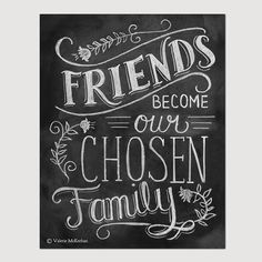Friendship Print - Friendship Gift - Friend Quote - Hand Lettered Print - Gift for Best Friend - Chalkboard Art - Chalk Art