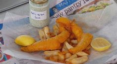 The perfect… Fish and Chips, masterchef australia Fish Dishes, Seafood Dishes, Fish And Seafood, Seafood Recipes, Cooking Recipes, Gary Mehigan Recipes, Masterchef Recipes, Masterchef Australia, Chips Recipe