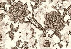 papel mural flores vintage