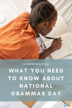 Practice your English skills on Grammar Day or any day. It's never a bad day to learn something new. National Grammar Day, Grammar Tips, Every Mom Needs, Bad Day, What To Read, Book Recommendations, Phonics, Parenting Hacks, Need To Know