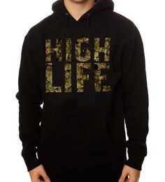 The Stoner High Life Hoody by dayoneluxury on Etsy