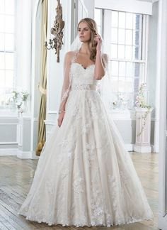 Venice lace, embroidered lace and tulle ball gown featuring a sweetheart neckline. https://www.lillianwest.com/lillian_west/6386