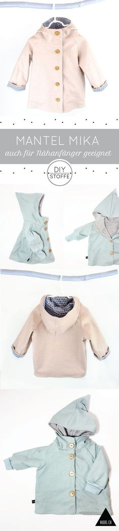 Baby Knitting Patterns Clothes Mantel Mika - a great project even for sewing beginners - The manual and sho . Baby Knitting Patterns, Baby Clothes Patterns, Coat Patterns, Knitting For Kids, Knitting For Beginners, Sewing For Kids, Baby Sewing, Free Sewing, Clothing Patterns