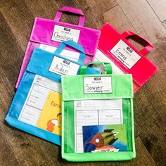 @lakeshorelearning 's Neon Sort & Store Book Totes are PERFECT! #sponsored They can be cleaned, are super durable, and they are SO bright and colorful! @missdecarbo The New School, New School Year, Back To School Essentials, Sorting, Totes, Neon, Colorful, Bright, Bags