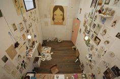 Yoshitomo Nara, artist.   40 Inspiring Workspaces Of The FamouslyCreative