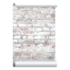 Self-adhesive Removable Wallpaper, White Washed Brick Wallpaper, Peel and Stick Repositional Fabric Wallpaper, Custom Design Wall Mural