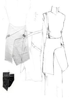 Fashion Sketchbook - fashion design development with fashion sketches & prototyping; fashion portfolio // Alexandra Baldwin
