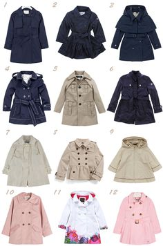 little girl trench coats Little Girl Fashion, Little Girl Dresses, Toddler Fashion, Kids Fashion, Girls Dresses, Childrens Coats, Baby Coat, Zara Kids, Cute Outfits For Kids