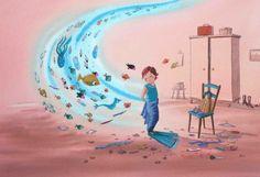 De schoenen van de zeemeermin. Illustratie: Sanne te Loo.