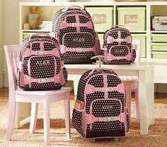 I love the Mackenzie Chocolate Dot Backpacks on potterybarnkids.com