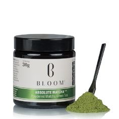 Bloom Absolute Matcha Green Tea Powder 30g - Blooms Absolute Matcha is 100% organic Japanese Matcha* for the absolute purist. This silky smooth green tea powder is naturally naturally high in protein, high in fibre, naturally low in sugars, natu http://www.MightGet.com/march-2017-1/bloom-absolute-matcha-green-tea-powder-30g-.asp